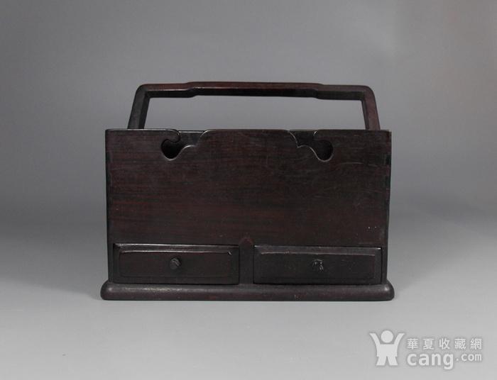 老红木提梁盒图1