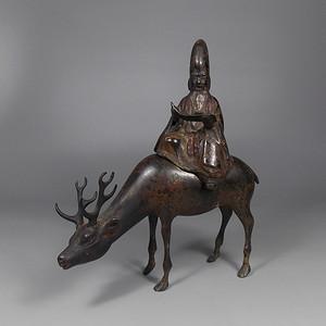 清寿星铜造像