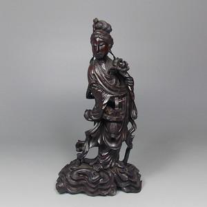 民国黄杨木雕嫲姑献寿