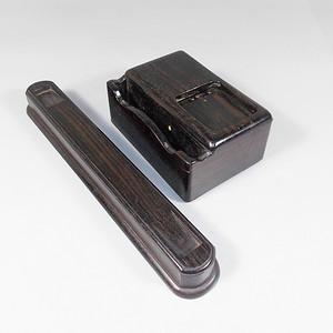 老红木文房镇纸墨盒