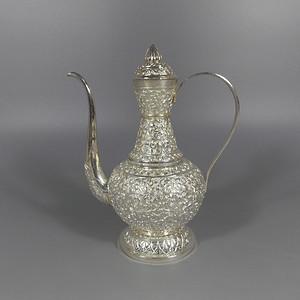 纯银满工茶壶