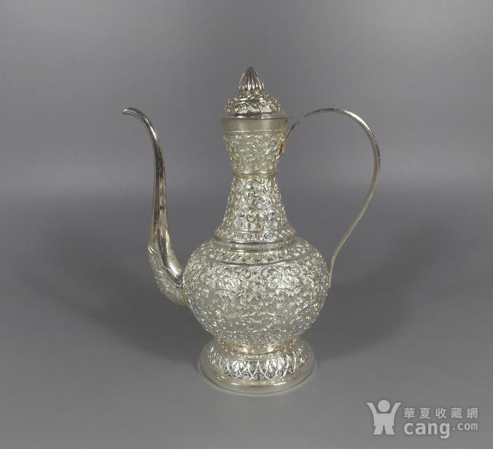 纯银满工茶壶图1