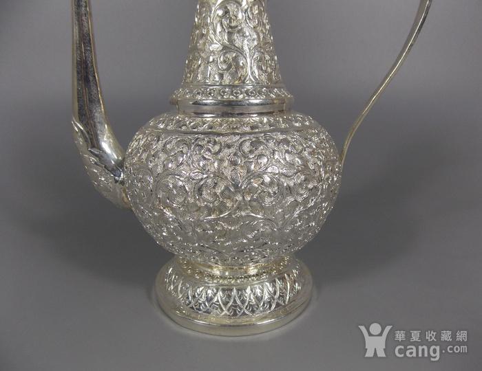 纯银满工茶壶图2