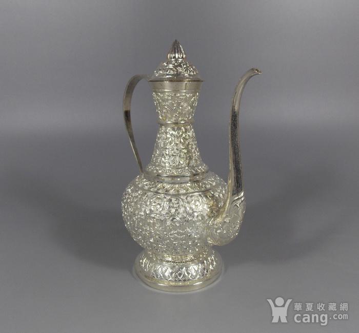 纯银满工茶壶图3