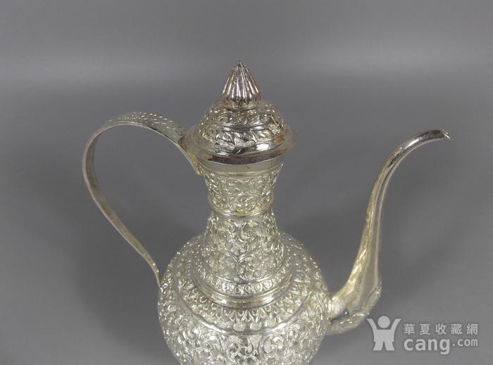 纯银满工茶壶图4