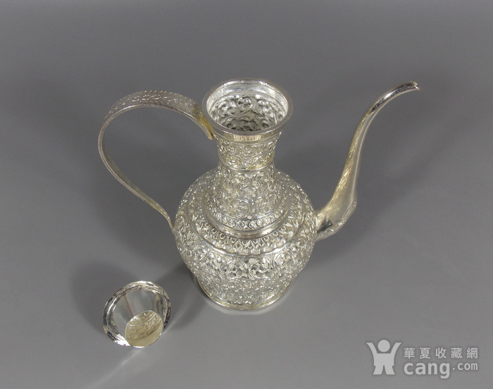 纯银满工茶壶图5