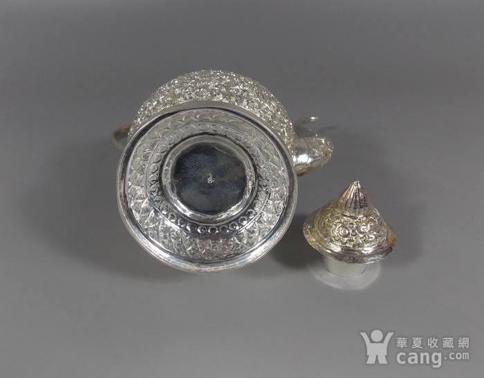 纯银满工茶壶图6