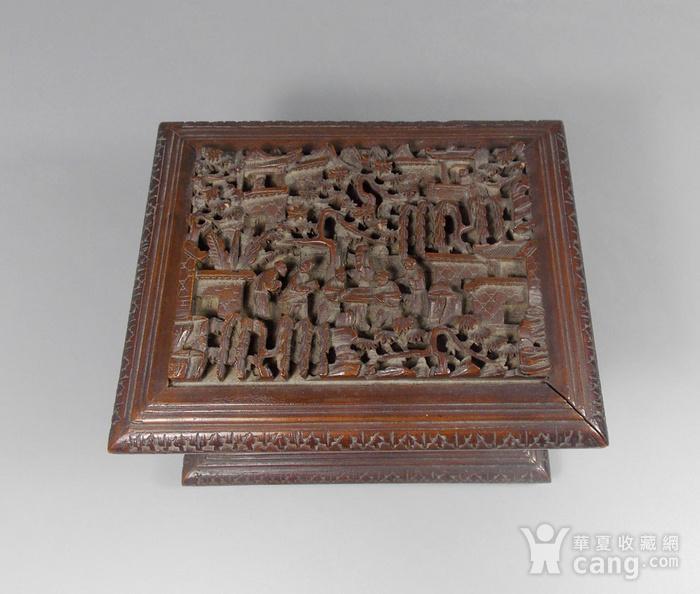 民国檀香木人物雕宝盒图4