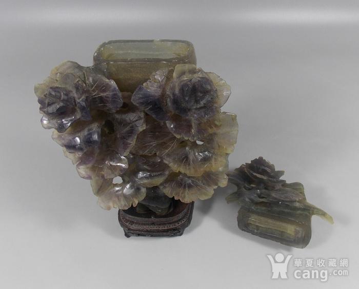老茶晶花卉发财瓶图5