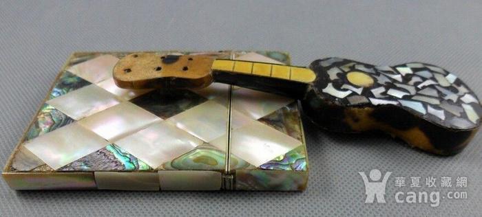 五彩珍珠名片盒木嵌珍珠吉他图4