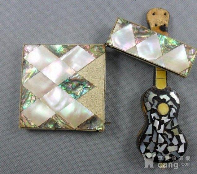 五彩珍珠名片盒木嵌珍珠吉他图3