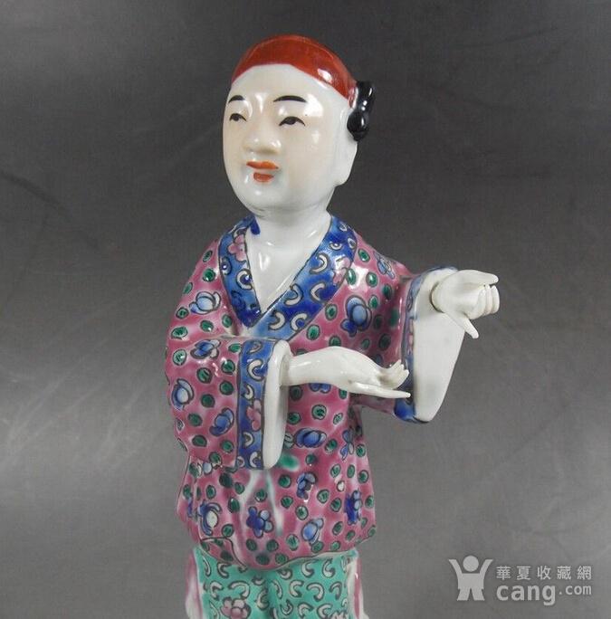 民国粉彩人物塑像图2