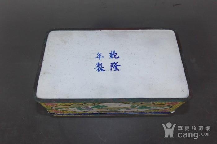 民国铜胎珐琅彩笔盒图4