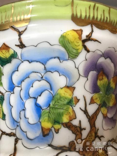 7532 民国粉彩花卉兽耳小花盆图7