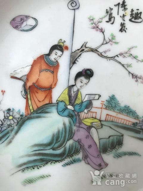 7537 民国陈生发粉彩红楼梦故事圆盘图3