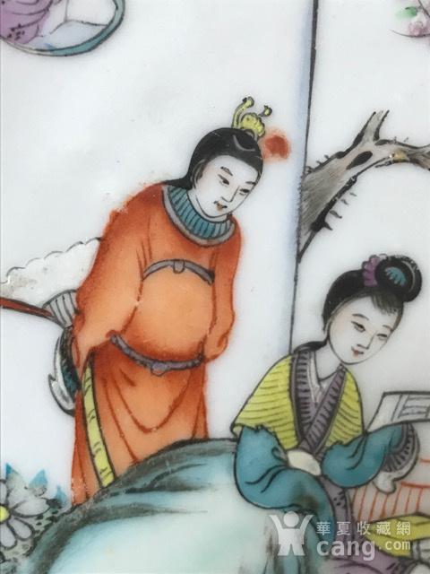 7537 民国陈生发粉彩红楼梦故事圆盘图6
