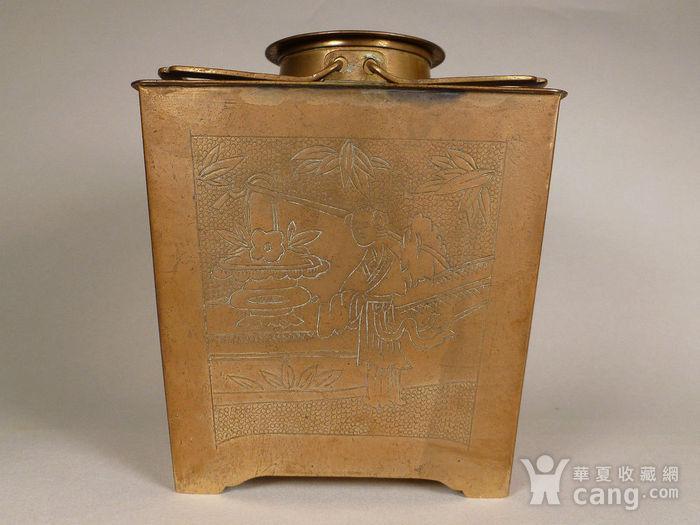 民国铜诗文茶壶图5