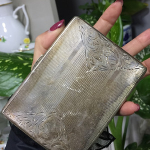 8110欧洲回流老合成银烟盒