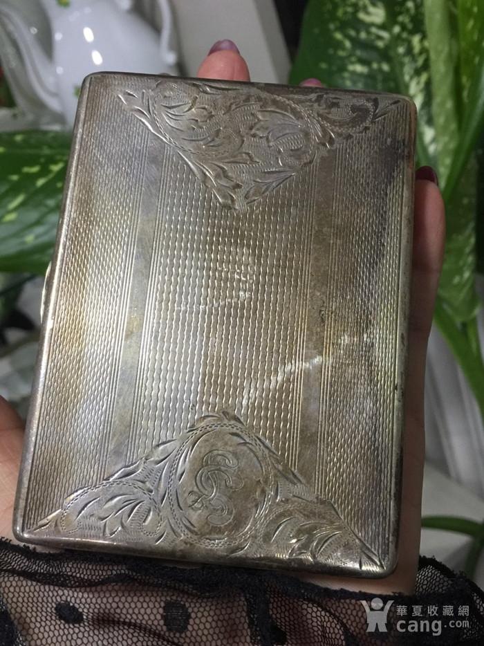 8110欧洲回流老合成银烟盒图9