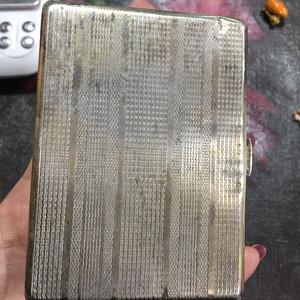 8111欧洲回流老合成银烟盒