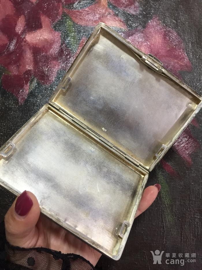 8111欧洲回流老合成银烟盒图6