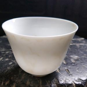 海外回流 龙纹白瓷杯
