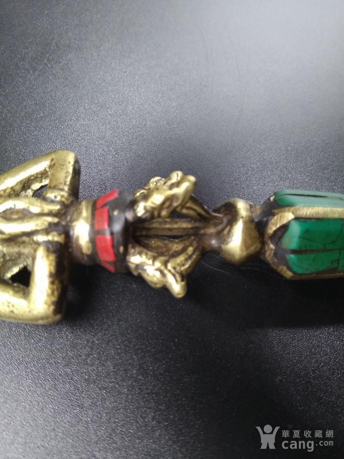 藏传清代法器 镶嵌绿松宝石图2