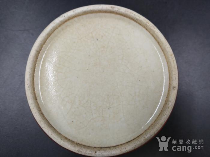 清早期 郎窑红水盂图5