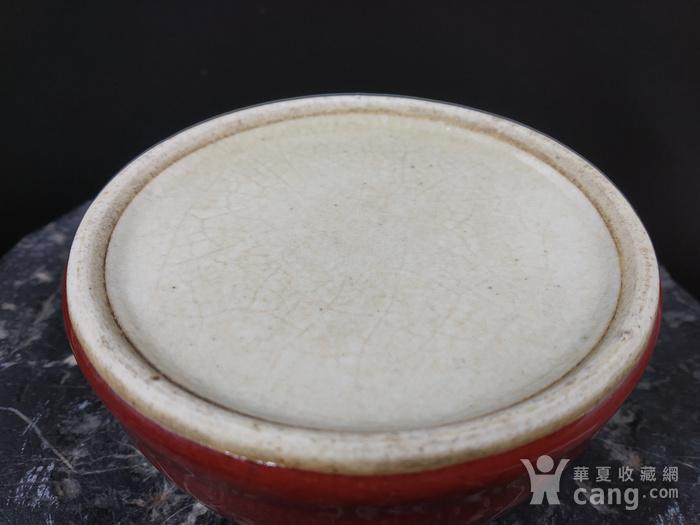 清早期 郎窑红水盂图6