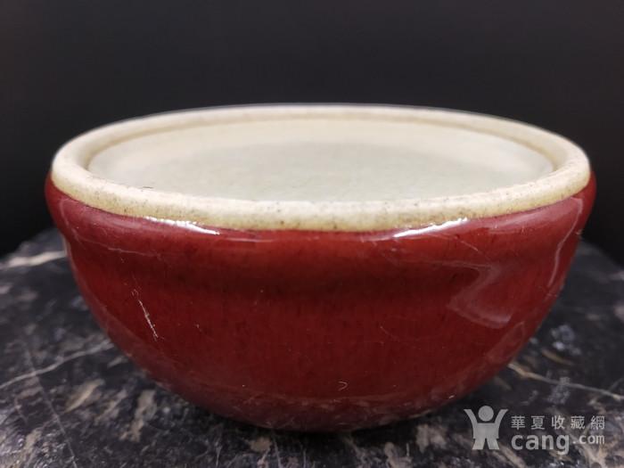 清早期 郎窑红水盂图7