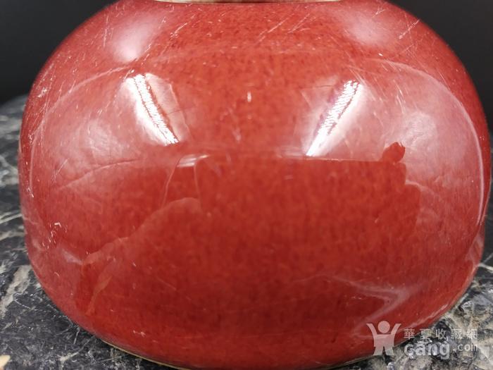 清早期 郎窑红水盂图8