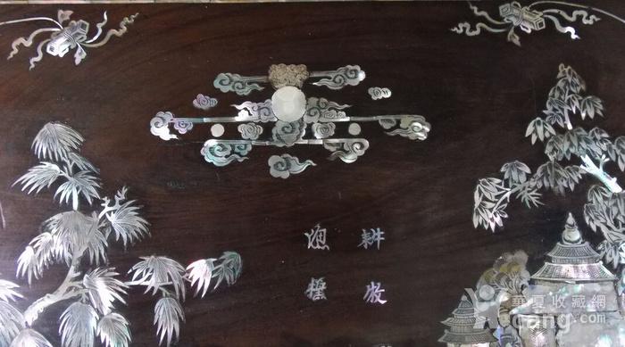 老红木螺钿特大挂屏图7