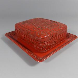 民国剔红文盒组
