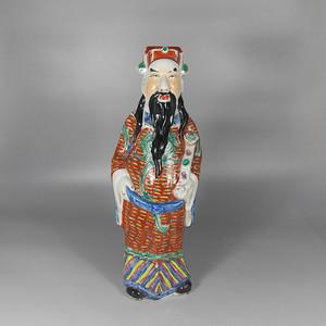 民国粉彩财神塑像