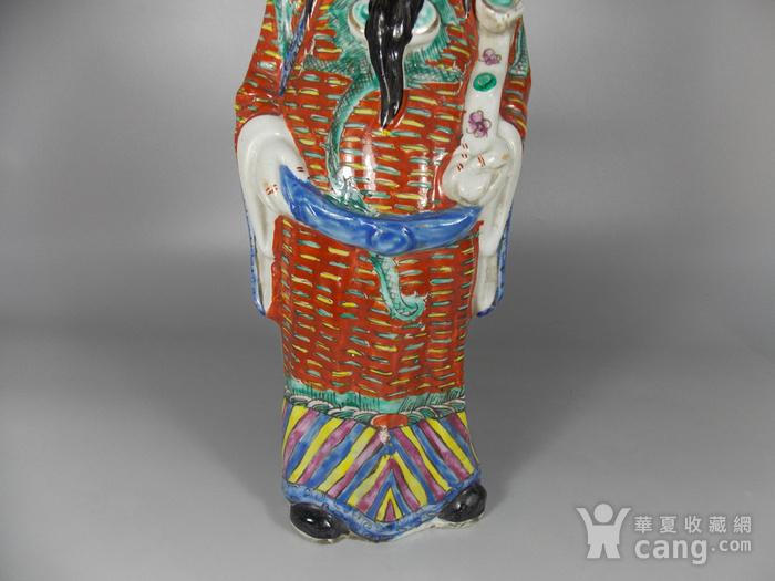 民国粉彩财神塑像图3