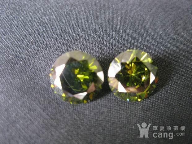 榄绿宝石钻戒图1