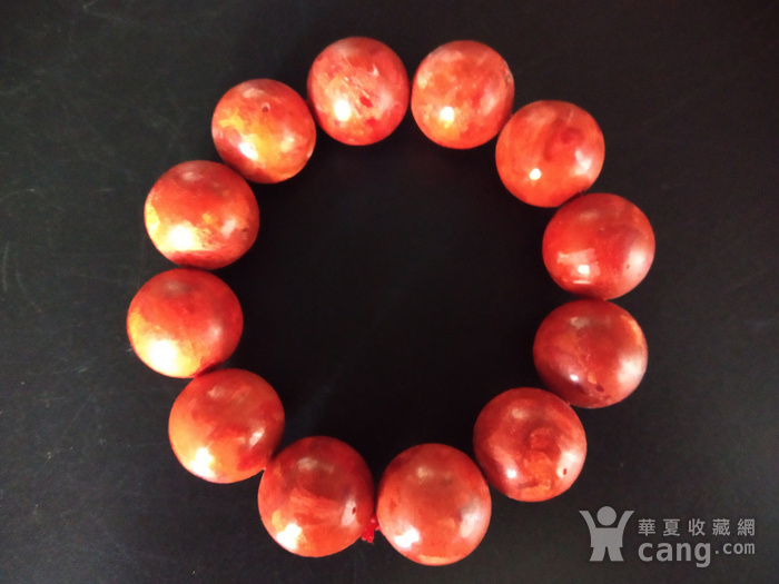 老珊瑚红珠手串图3