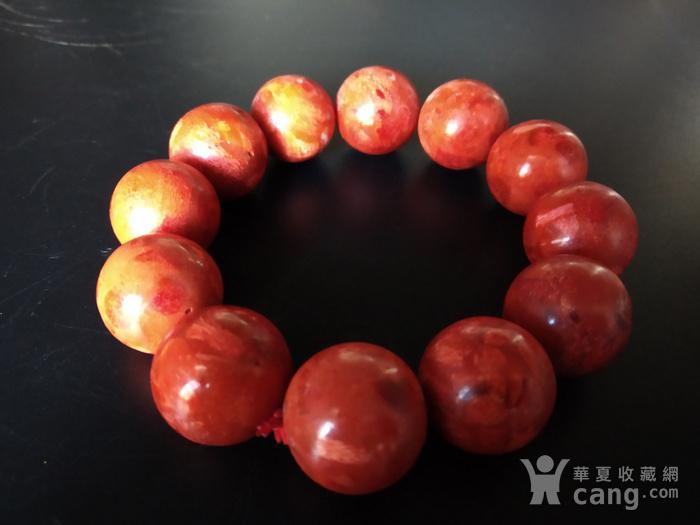 老珊瑚红珠手串图4