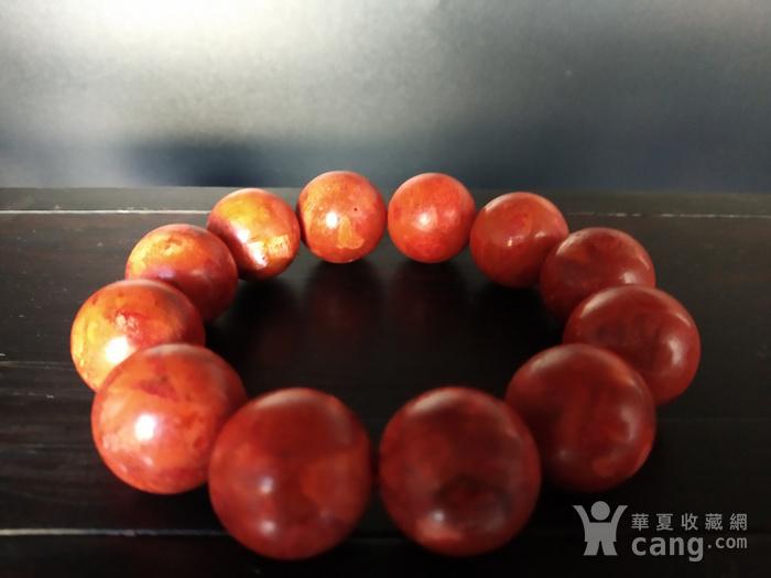 老珊瑚红珠手串图6