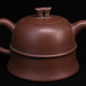 旧藏紫砂壶金钟壶