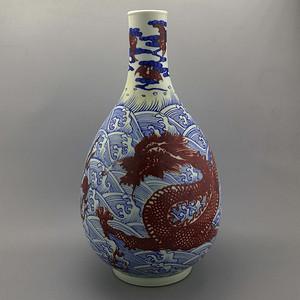 青花龙纹胆瓶
