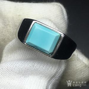 湖北高瓷蓝原矿绿松石戒指