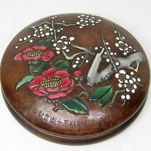 安藤七宝,铜胎砚盒