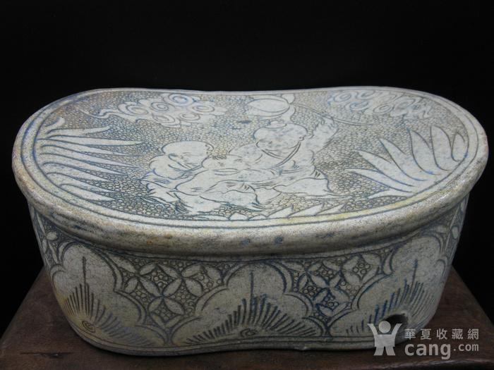 收藏级精品  磁州窑婴戏瓷枕图2
