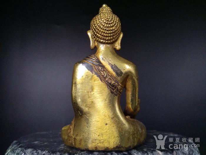 清代 鎏金释迦牟尼佛造像图4