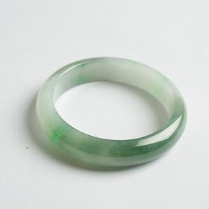 阳绿冰种正圈翡翠手镯 56mm  21L40 3