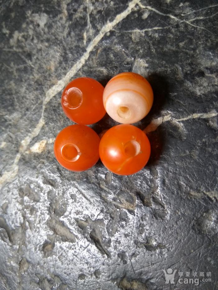 西亚回流 红玛瑙古珠 孔对开图4