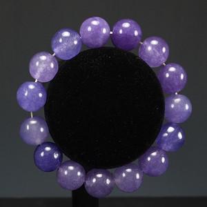 国外回流天然印度天然紫色翡翠 手链