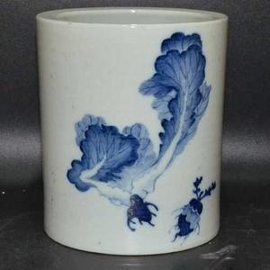 英国回流的中国瓷大笔筒青花