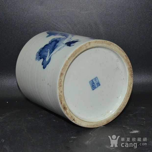 英国回流的中国瓷大笔筒青花图6